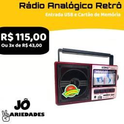 Rádio Analógico Retrô