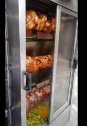 Máquina de assar frango(de espeto) cabe 30 frangos