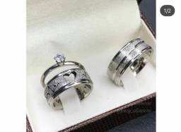 Título do anúncio: Alianças de namoro prata em aço cirúrgico