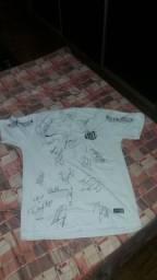 Camisa do santos autografada