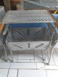 Churrasqueiras desmontável de alumínio batidos apronta entrega