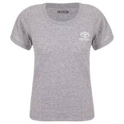 Camiseta Feminina logo Toyota Cinza tamanho Médio
