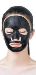 Máscara facial carvão ativado e minerais
