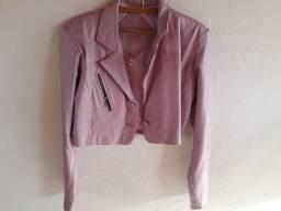 Jaqueta de couro legítimo tamanho M
