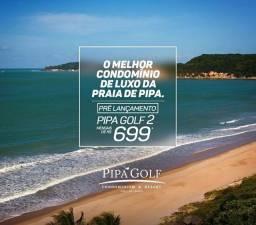 Pipa golf 2 - Lazer completo + Praia - mensais de 699,50