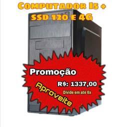 Computador I5 + ssd 120 + 4GB RAM