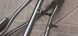 Quadro Bicicleta Caloi Cross Cromado Aro 20(Leia a descrição)