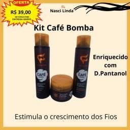 Kit Shampoo (400ml), Condicionador (400ml) e Creme (300g)