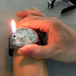 Relógio E Isqueiro De Pulso Firewatcher 2 Em 1 Original Tudozenshop