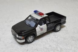 Carrinho miniatura de polícia Dodge Ram