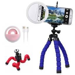 Kit Para Fotos e Videos Ring Light Mini Trip