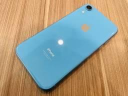 Título do anúncio: Vendo IPhone XR Azul 64GB Original Apple