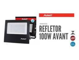 Refletor Led Holofote 100w Branco Frio 6500k Ip65 Slim Avant