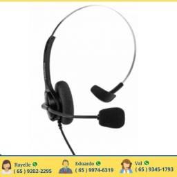 Headset Rj9 Compatível Intelbras Plantronics