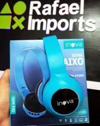 Headfone Bluetooth inova original 5.0 Blue