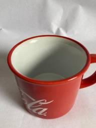 House Caneca Porcelana Coca Cola Logo Drink Vermelho 380ml