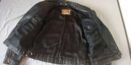 Jaqueta de couro legítimo década de 90