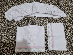 2 kits e 2 jogos de lençol mini berço