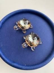 Casal de Tartarugas Cristal Swarovski na Caixa Original com Etiqueta