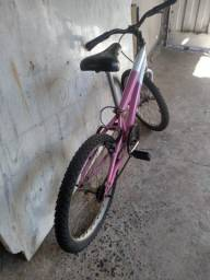 Bicicleta rosa aro 20