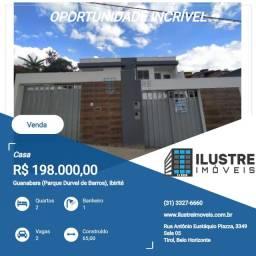 Casa a venda 2 quartos 2 vagas Ibirité MG