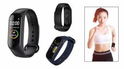 Relógio Pulseira M4 Smartband Monitor Cardíaco Conta Passos