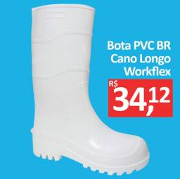 Bota PVC Branca Cano Longo - Workflex - Promoção R$ 34,12
