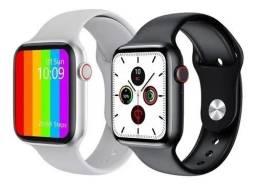 Lindo Smartwatch IWO W46 novo Branco