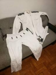 Kimono Jiu Jitsu Outshock Branco + faixa - Tamanho A3