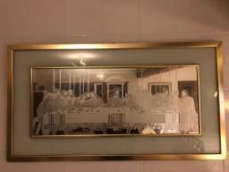 Santa Ceia Quadro Espelho Jateado