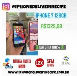Título do anúncio: IPhone 7 128gb Preto (12 x Sem Juros ) Entrega Grátis Recife