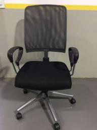 Título do anúncio: Cadeira Presidente Tela Mesh Preta e Cinza Escritório Giratória Home Office