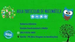 Título do anúncio: Aula particular de Matemática