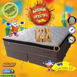 (Oferta por tempo Limitado) Cama Box Super King Size Linha Super Luxo (Pronta Entrega)
