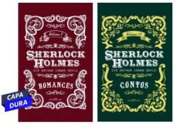Combo - Livros Sherlock Holmes Contos + Romances, Edição de Luxo