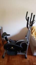 Elíptico e bicicleta ergométrica. 2 em 1.