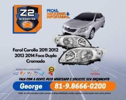 Título do anúncio: Farol Corolla Foco Duplo Cromado Toyota 2011 12 13 14