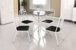 Mesa granito com 4 cadeiras novas