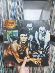 """LP disco de vinil David Bowie """"Diamond Dogs"""" 1974"""