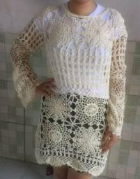 Blusa de crochê, Selena Gomes
