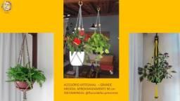 suporte artesanal decorativo para plantas e flores