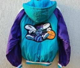 Jaqueta Vintage Nba Charlotte Hornets Anos 90, Colecionador