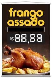 Banner Frango Assado para Lanchonetes Padarias Bares Restaurantes Ambulantes e Afins
