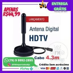 Antena Digital ótima qualidade TV HD Cabo 4m ENTREGA GRÁTIS AJU