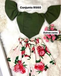 Cropped/ conjuntos/ vestidos/ bolsa / blusa ciganinha