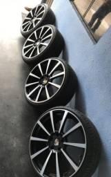 Rodas e Pneus 22 para Porsche!!! (Pouco Uso!!!) Apenas =>> R$ 5.500,00!!!