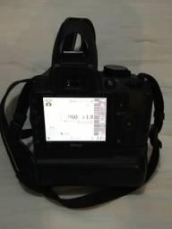 Kit Semi profissional Nikon D3100 com 3 lentes, mochila, flash e acessórios pouco uso