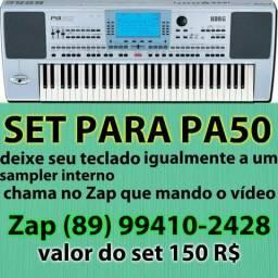 Set sample interno para teclado pa50