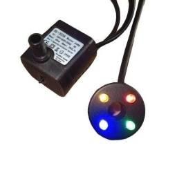 Fonte bomba de aquário oxigênio com 4 cor de luz