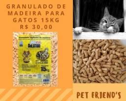 Granulado de Madeira para Gatos